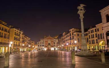 Padua - Piazza dei Signori square with the st. Mark column