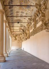 Padua - The atrium and the external corridor of Palazzo del Bo