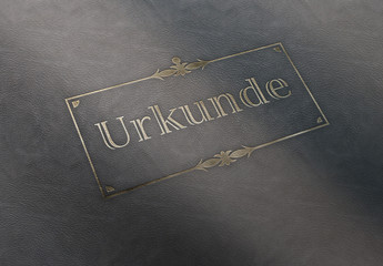 Urkunde Leder Ornament