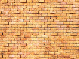 yellow Background of brick wall texture