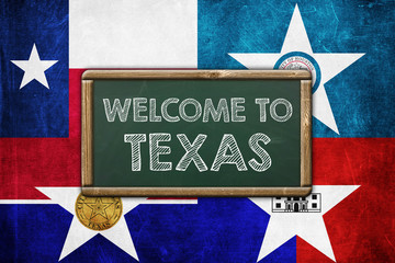 WELCOME TO TEXAS - vintage background concept