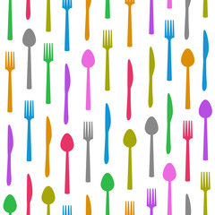 Fork Knife Spoon Colorful Texture