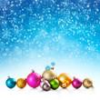 canvas print picture - Christmas baubles