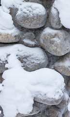 Snowy stone background