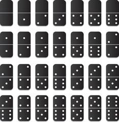 Full set of vector domino tiles