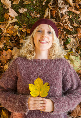 autumn leaf woman