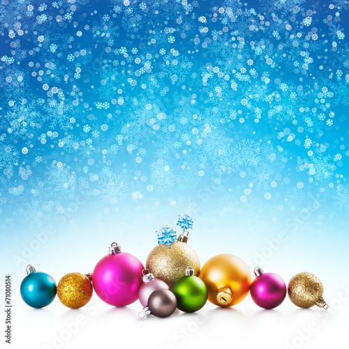 canvas print picture Christmas baubles