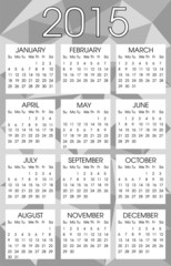 Calendar 2015 Grey Triangle Vector