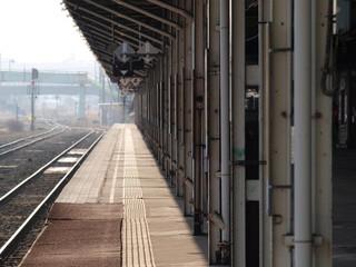 駅舎のホーム