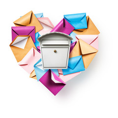 Mailbox with heart