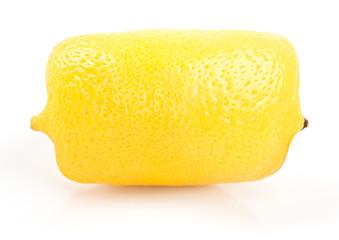 Square (cube) lemon on a white background