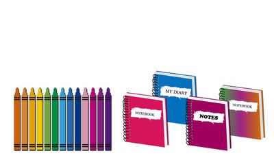 Cuadernos y rotuladores