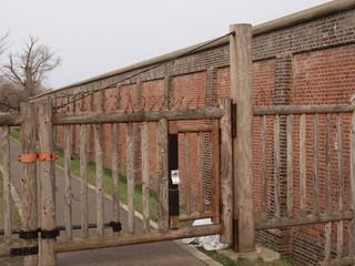 網走刑務所の外壁
