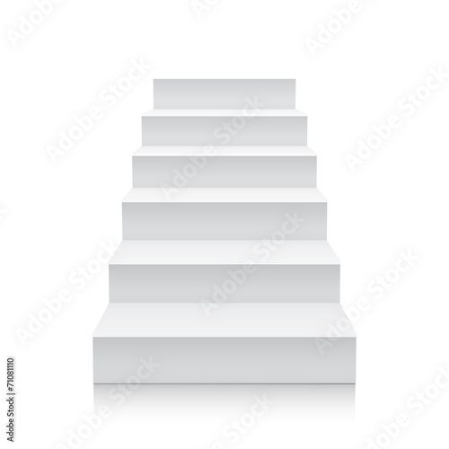 Stairs isolated on white background - 71081110