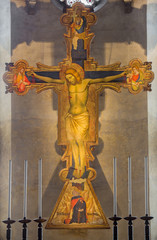 Crucifixion from year 1370 in Church of the Eremites