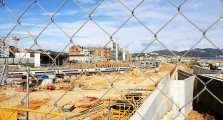 Obras del tren de alta velocidad, Barcelona