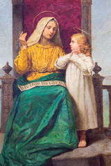 Padua - Paint of Saint Ann and little Mary