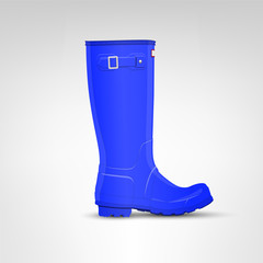 Blue rubber boot illustration
