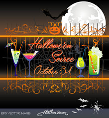 eps Vector image: Hallowe'en Soiree