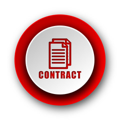 contract red modern web icon on white background