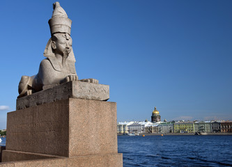 sphinx at  Universitetskaya Embankment, Saint Petersburg, Russia