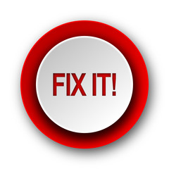 fix it red modern web icon on white background