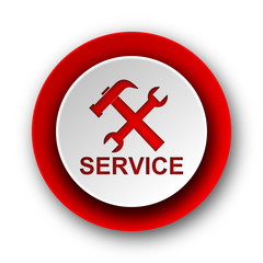 service red modern web icon on white background