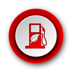 biofuel red modern web icon on white background