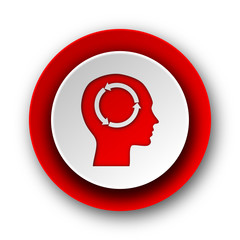 head red modern web icon on white background