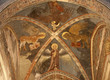 Verona - Fresco of Evangelists in sanctuary of church San Fermo