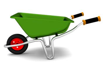 Wheelbarrow isolated on white