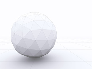 Abstract 3D design of a sphere with wireframe lines