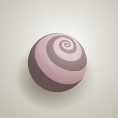 Abstract 3D Globe with Spirals