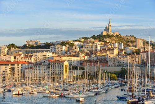 Plexiglas Stad aan het water Marseille - Le Vieux Port