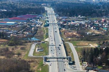 Multiple lane road