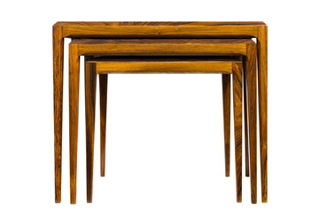 Wood mahogany end table