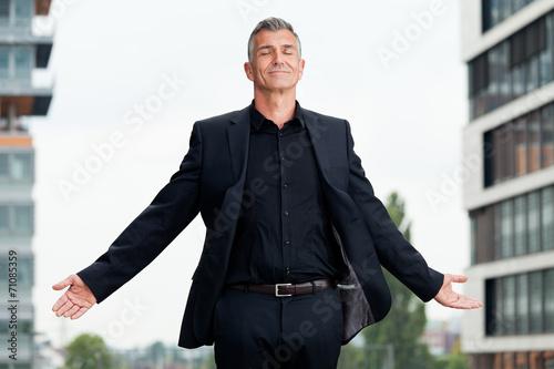 Leinwanddruck Bild Business Mann