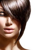 Beauty woman portrait with fashion trendy hair style