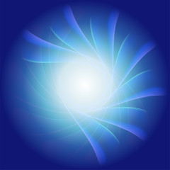 Blue radial background, blue and white light