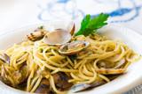 Fototapety Spaghetti con vongole veraci