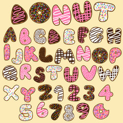 donut alphabets set,sweet party