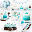 Dessert table collage