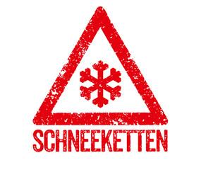 Roter Stempel - Schneeketten