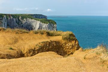 Steilküste bei Etretat in Frankreich