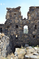 Армения, фрагмент крепости Амберд, 7-14 века