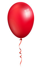 balloon, single red