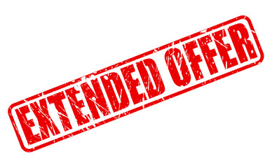 Extended offer red stamp text