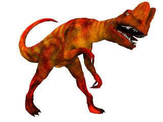 Dilophosaurus on White