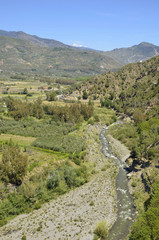 River Guadalfeo in Orgiva, La Alpujarra, Spain