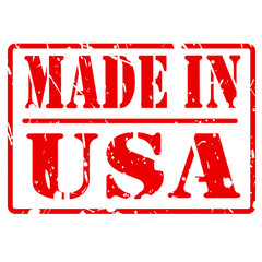 MADE IN USA red stamp text